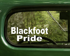 2 BLACKFOOT PRIDE STICKERs Native American Decal for Car Truck Laptop Bumper