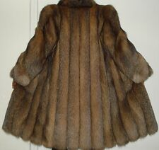 Maximilian Bloomingdale's Crystal Fox Fur Coat Size 6-8 FREE SHIP Excell Conditi