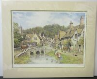 John Chapman, Feeding Ducks - Signed Mounted Limited Edition Traditional Print