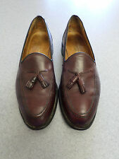 London Character cordovan color leather, tassel loafers, Men's 10