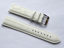 Replacment Quality Lug Size 22mm White Genuine Leather Alligator Grain GUESS