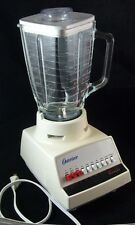 Vintg. White Sunbeam - Oster OSTERIZER Blender 10 Speed 375 Watts w/ User Manual