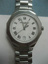"MANS BAUME MERCIER RIVIERA SS 38mm WATCH 65470 ""MINT"""