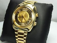 Rare 1970s Omega Seamaster Memomatic Cal. 980 Gold Tone 166.072 Swiss Wristwatch