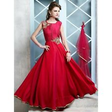 Indian Stylish Designer Bollywood Red Party Gown Anarkali Salwar Suit Women