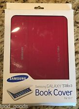 "Samsung Book Cover Trifold for Galaxy 10.1"" Tab 3, Red EF-BP520BREGUJ, BRAND NEW"