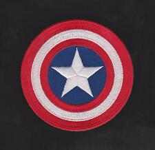 "Avengers Captain America Shield Iron on  Movie patch 3"" 100% Embroidered"