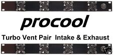 PROCOOL TV440 & TV440E - (1U) Rack Mount Fan Panels - 1 intake and 1 exhaust