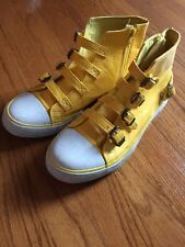 APPLE BOTTOMS Tennis Shoes High Tops Basketball YELLOW Leather Womens Size 10