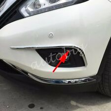 Chrome Fog Light Eyebrow Cover FOR Nissan Murano 2015 2016 Lamps Trim Styling
