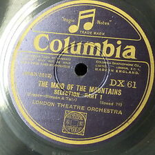 "78rpm 12"" MAID OF THE MOUNTAINS SELECTION dx 61"