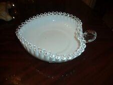 FENTON SILVER CREST HANDLED HEART BOWL......WOW!....GORGEOUS!......NICE!