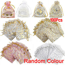 100 Candy Gift Sweet Treat Display Favor Gift Party Wedding Jewelry Bag Pouch L6