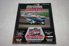 1996 Daytona 500 Race Program with Commemorative Pontiac Patch
