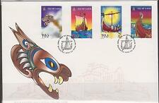 GB - ISLE of MAN 1998 The Longship & Viking Age on the Isle of Man SG 793/6 FDC