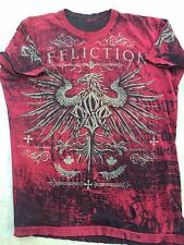 AFFLICTION Mens T-Shirt SPARTAN George St. Pierre Fighter Gym MMA UFC XL $58