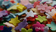 Mini Felt Flowers, die cut Floral Craft Embellishments