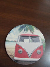 RED  VW BUS  2CT CAR COASTERS