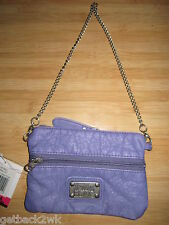 NEW Billabong Peace WALLET Clutch BAG ID VEGAN PU Ladie's Purple