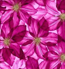 Grandi CLEMATIS fioriture rosa tessuto 50x56 cm f902-4 100% COTONE