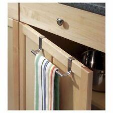 Over Door Tea Towel Holder Rack Bathroom Rail Hanger Kitchen Cupboard Bar Hook