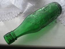 LOVELY EMERALD GREEN BEER SODA BOTTLE JOHN GRUNDY STOCKPORT (MANCHESTER) c1910