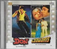 DON / LAAWARIS  -  2 IN ONE FILMS NEW BOLLYWOOD CD -  FREE UK POST