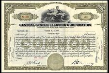 Common Stock. Central States Electric Corporation. January 1940
