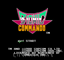 Bionic  Commando - NES Nintendo Game Tested Guaranteed