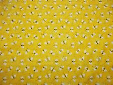 BUMBLE BEES - PATTY REED -100% COTTON - NEW - ADORABLE!!!  HTF 1 REMNANT  PIECE