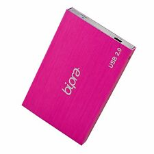 Bipra 250GB 2.5 inch USB 2.0 FAT32 Portable Slim External Hard Drive - Pink