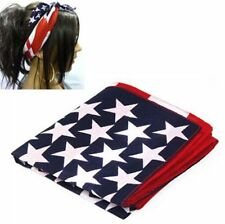 Cotton Stars Hair Scarf USA And Band Stripes Movement American Bandana Flag