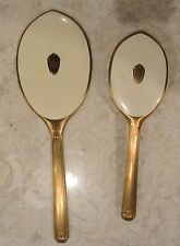 Vintage Vanity Set Brush and Hand Mirror