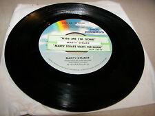 Marty Stuart Kiss Me, I'm Gone / Visits The Moon 45 VG+ Juke Box