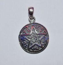 Pendentif  pentagramme  Runes a 5 branches  mythologie grecque,  argent 925 p291