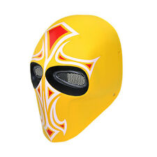 High quality Fiberglass Resin Mesh Eye Airsoft CS Paintball Full Face Mask L0449