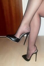 High Heels Stiletto Mules in Schwarz Matt mit 13 cm absatz in Gr. 37-38-39-40