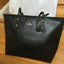NEW!!! Authentic Coach Signature City Zip Tote black F36875