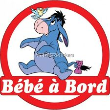 Decal Sticker vehicle car Baby à bord Eeyore 16x16cm ref 3570 3570