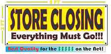 STORE CLOSING EVERYTHING MUST GO Banner All Weather Sign Going Out of Business