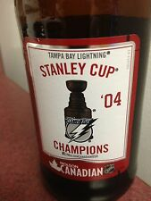 2014 molson stanley cup nhl tampa bay lightening beer bottle glass empty