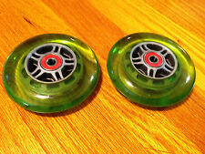 """4"""" QUICKIE WHEELCHAIR CASTERS-TILITE-INVACARE  ( 2 WHEELS / W SPACERS) GREEN"""