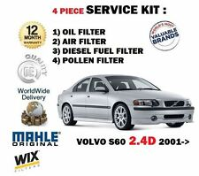 FOR VOLVO S60 2.4D 2001--  OIL AIR FUEL POLLEN FILTER SERVICE KIT *OE QUALITY*