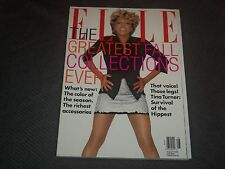 1996 AUGUST ELLE MAGAZINE - TINA TURNER FRONT FASHION COVER - O 6994