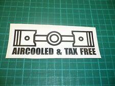 Aircooled & Tax Free Sticker