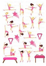 26 icing cupcake cake toppers decorations edible Gymnastic dancers images