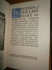 Legends of our lady Mary the perpetual virgin and her mother Hanna Edition 1922