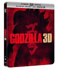 Godzilla (3D Blu-ray+Blu-ray+DVD) Limited Edition Steelbook-Region Free New!