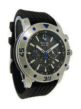 Bulova Marine Star 98B165 Men's Round Black Chronograph Date Analog Watch
