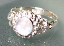 925 silver everyday rainbow moonstone ring UK R½/US 9